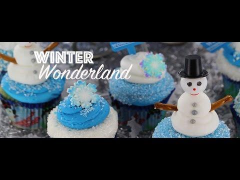 Cupcake Dazzle: Winter Wonderland Cake & Cupcakes