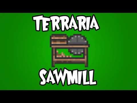 How to make a Sawmill in Terraria!