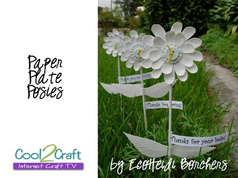 How to Make Paper Plate Flowers by EcoHeidi Borchers