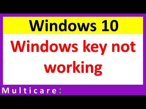 Windows button not working in windows 10 | Fixed