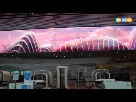 Changi Airport T4 Digital Immersive Wall