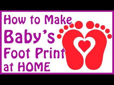 DIY baby footprint ideas - how to make baby footprints at home