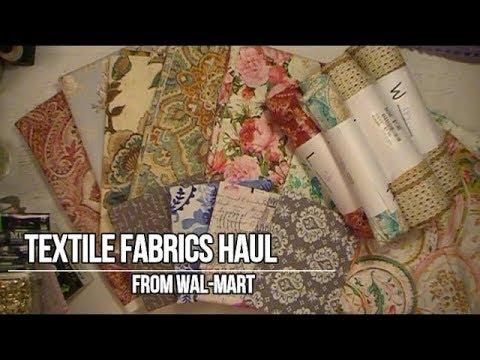 Textile Fabrics Haul- Walmart