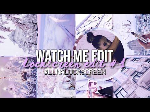 ♡lockscreen edit #1♡