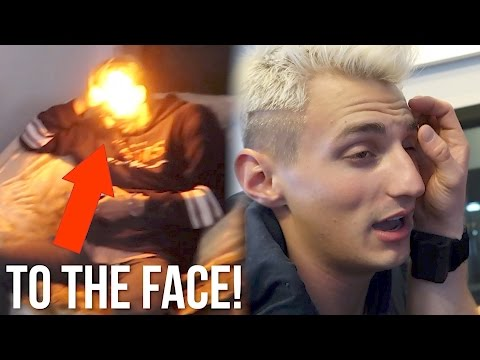 I BURNT MY ROOMMATE'S EYEBROW OFF WITH A FLAMETHROWER!