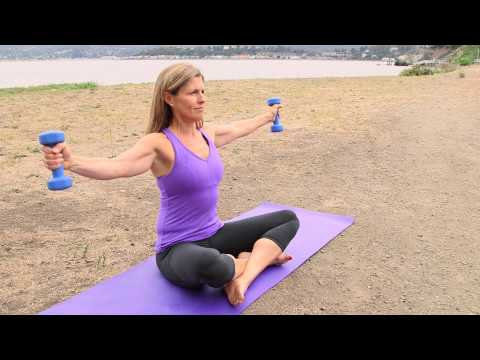 Exercises to Lose Your Arms & Stomach While Sitting Down : Pilates & Core Exercises
