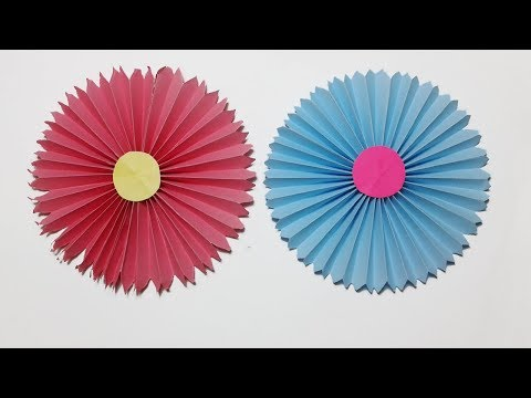 How to make Easy paper rosettes Flower ? Handmade flowers step by step -Easy paper craft Tutorials.