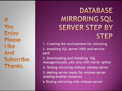 Solved SQL Database mirroring step by step part 6 / 6 Testing Database mirroring with witness server