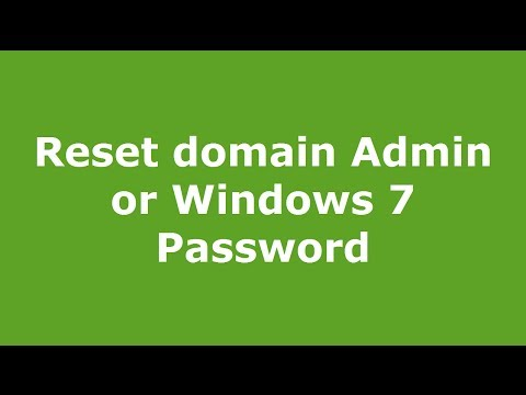 Reset domain Admin or Windows 7