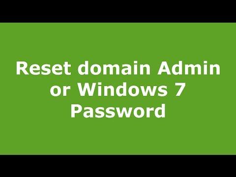 Reset domain Admin or Windows 7