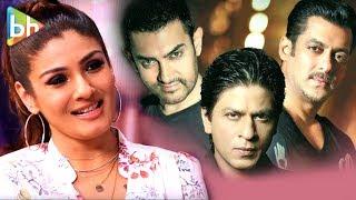 Raveena Tandon's EXCLUSIVE Khan Quiz   Shah Rukh Khan   Salman Khan   Aamir Khan