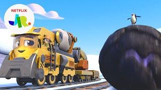 Brock's Rock-in Penguin Delivery 🐧 Mighty Express   Netflix Jr