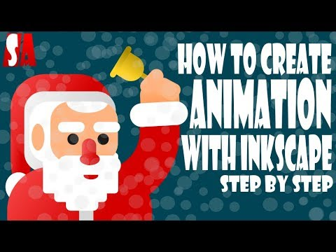 Inkscape Vector Animation Step By Step Tutorial | Chirstmas Special