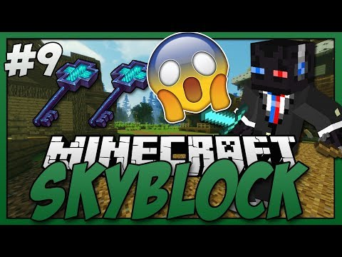 Minecraft - Skyblock S3 #9 - Opening 2 Ancient Keys + Island Expansion (Part 3)