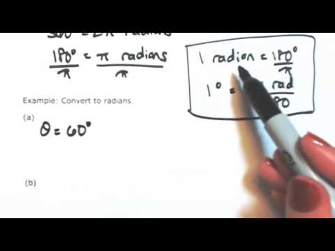 Convert degrees to radians and radians to degrees