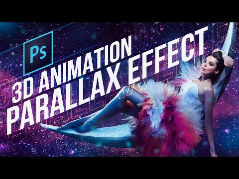 Photoshop CC 3D Animation Parallax Effect Tutorial (Very cool!)