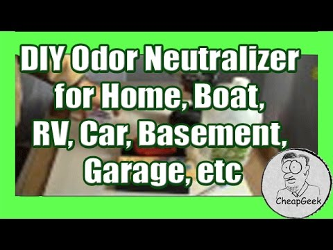 DIY Odor Neutralizer for Home, Boat, RV, Car, Basement, Garage, etc...