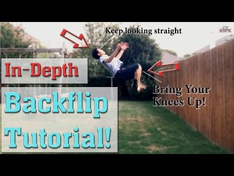 How to do a Backflip / Back Tuck Tutorial | Flat Ground