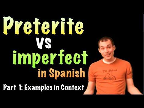 02 Spanish Lesson - preterite vs imperfect (part 1)