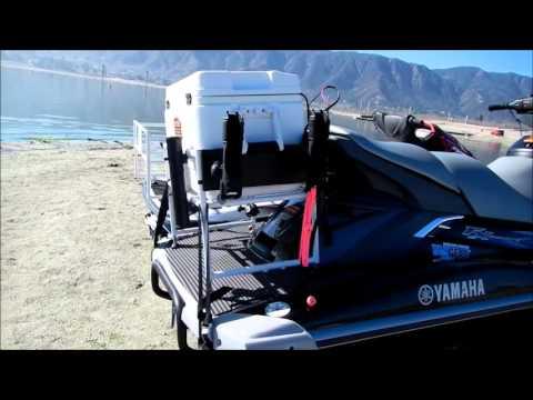 Jet Ski Fishing Cooler Rack - Safety Video