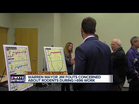 Warren Mayor Jim Fouts concerned about rodents during I-696 work