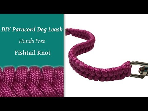 DIY Dog Leash - Hands Free Fishtail Knot