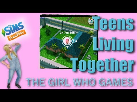 The Sims Freeplay- HOW TO: Teenage Sims Living Together!