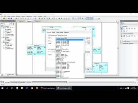Generate Database Menggunakan Power Designer