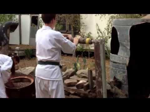 Okinawa karate hand and wrist exercise