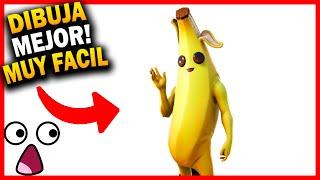 Como Dibujar A La Banana Skin De Fortnite Paso A Paso Dibujos
