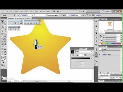 Adobe Illustrator CS5 Tutorial 33   Draw Mario Star