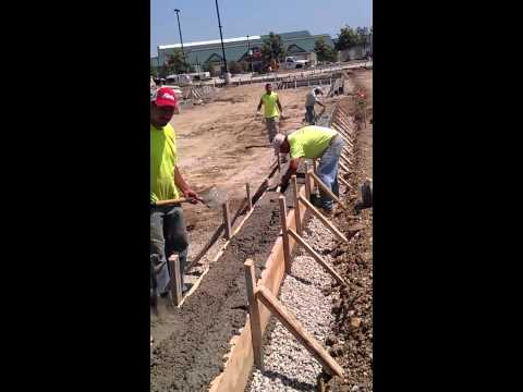 Rafys Concrete installing curb for parking lot