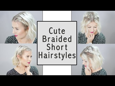 CUTE BRAIDED SHORT HAIRSTYLES | Milabu