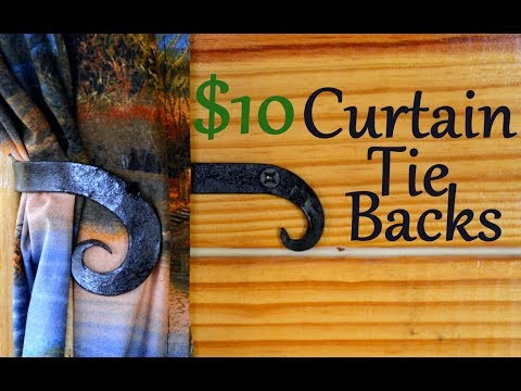 Hand Forged Curtain Tie Backs // Blacksmith Project Ideas