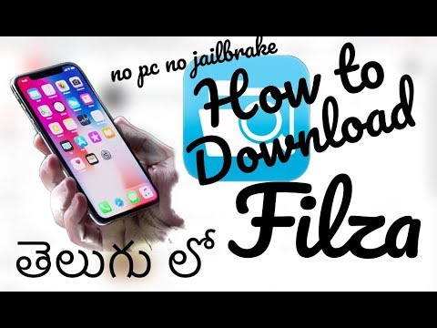How to Download filza for free (no JailBreak no PC) in Telugu