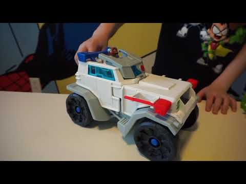 Unboxing Fisher-Price Imaginext Teen Titans Go! Cyborg & Transforming Battle Rig Vehicle