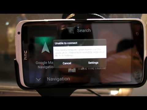 HTC car kit,  présentation de la solution de navigation HTC