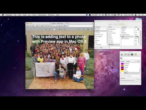 Add Text to a Photo with Preview in Mac OS X