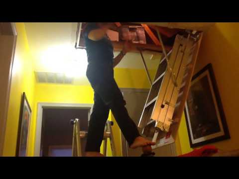 Attic Stair Installation (one person)