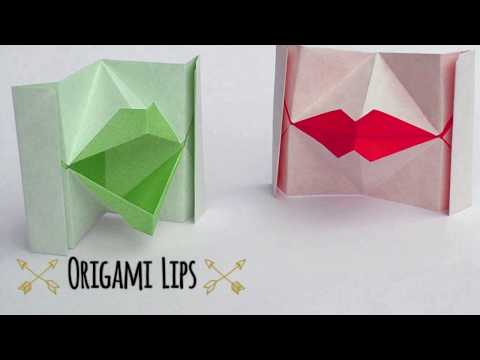 TUTORIAL - How to make an origami Kissing Lips