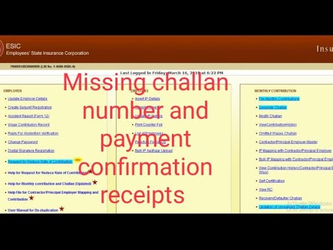How to get challan number in esic