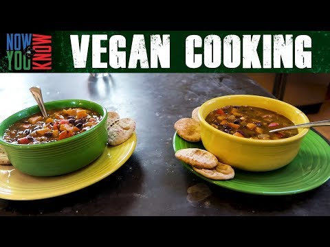 Spicy Black Bean Soup - Vegan Cooking w/ Bobby & Brent