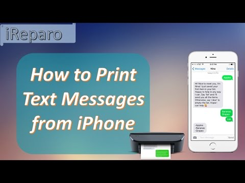 Easily Export & Print Text Messages from iPhone 7/SE/6S/6/5S/5