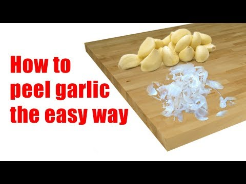 How to peel garlic the easy way