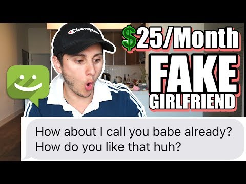 I SIGNED UP FOR A FAKE GIRLFRIEND SERVICE!!