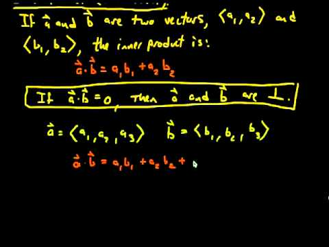 Perpendicular Vectors: Dot Product