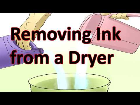 How to Remove Ink Stains from your Clothes Dryer the Simple Way.