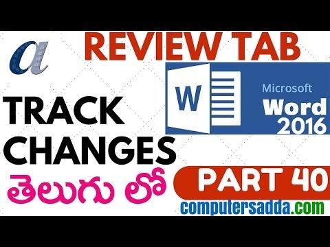 Ms-word 2016 in Telugu 40(Track Changes) (www.computersadda.com)