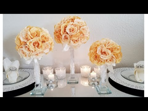 DIY | ELEGANT CENTERPIECE | MINI BLING CANDLE HOLDERS 2018 | BUDGET FRIENDLY