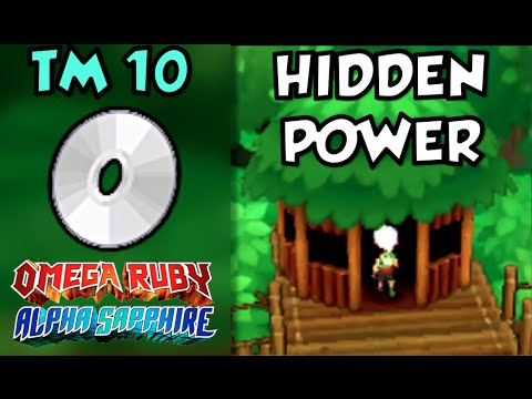 Where/How to Find TM 10: Hidden Power | Pokemon Omega Ruby and Alpha Sapphire